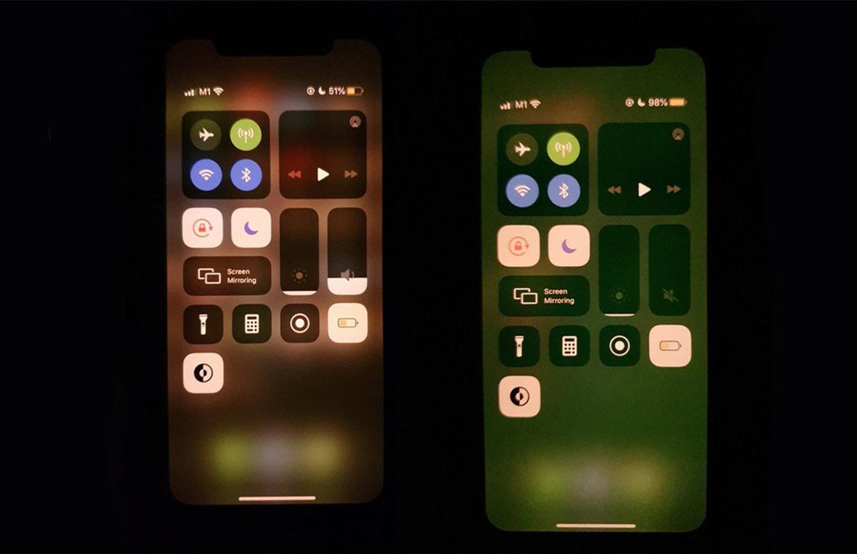groene tint scherm iphone