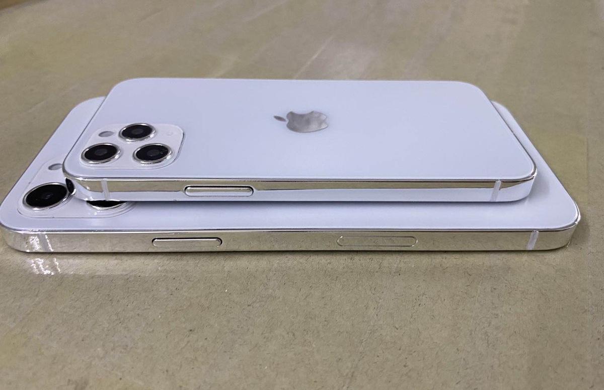 'iPhone 12 dummy's tonen iPad Pro-achtig ontwerp'