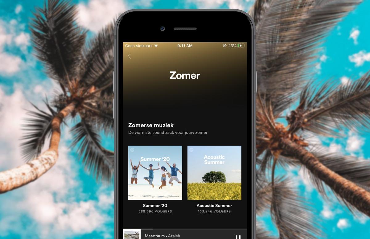 Spotify Summer Rewind Zomer-blad