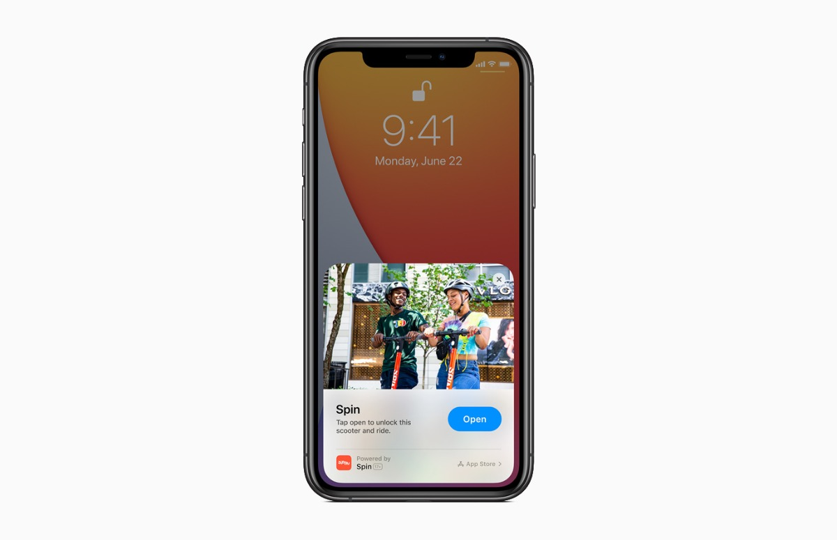 App Clips iOS 14 screen