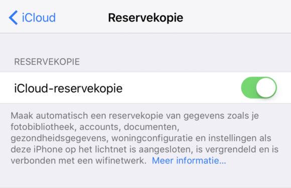 iPhone backup maken