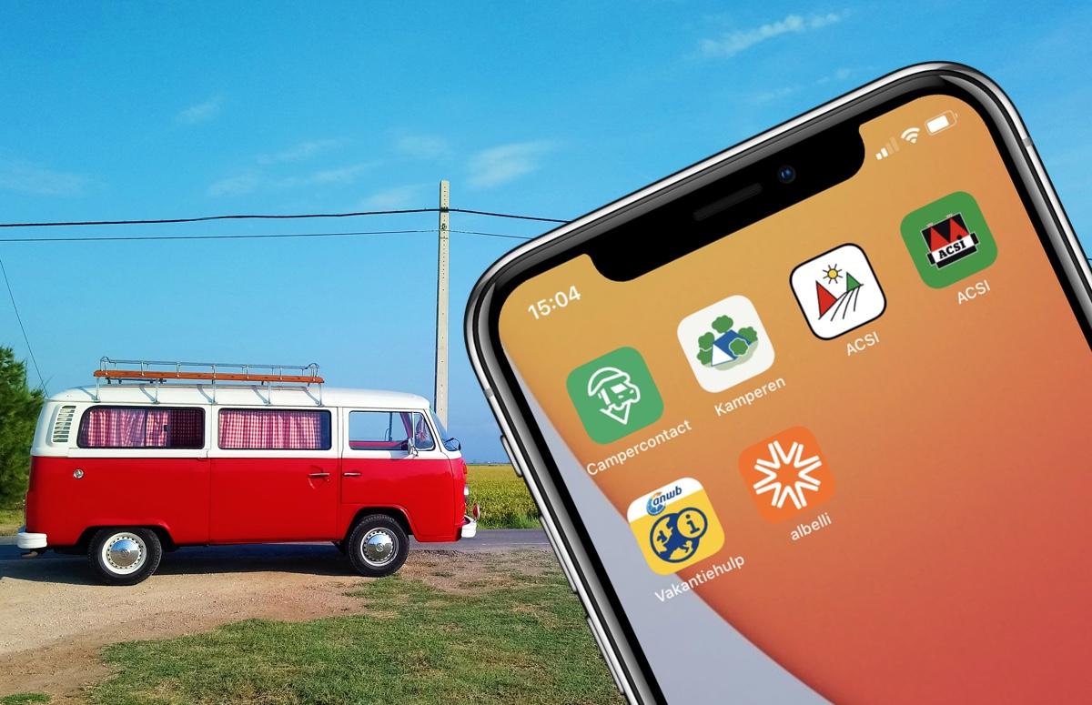 Met deze 7 kampeer-apps ga jij voorbereid op reis