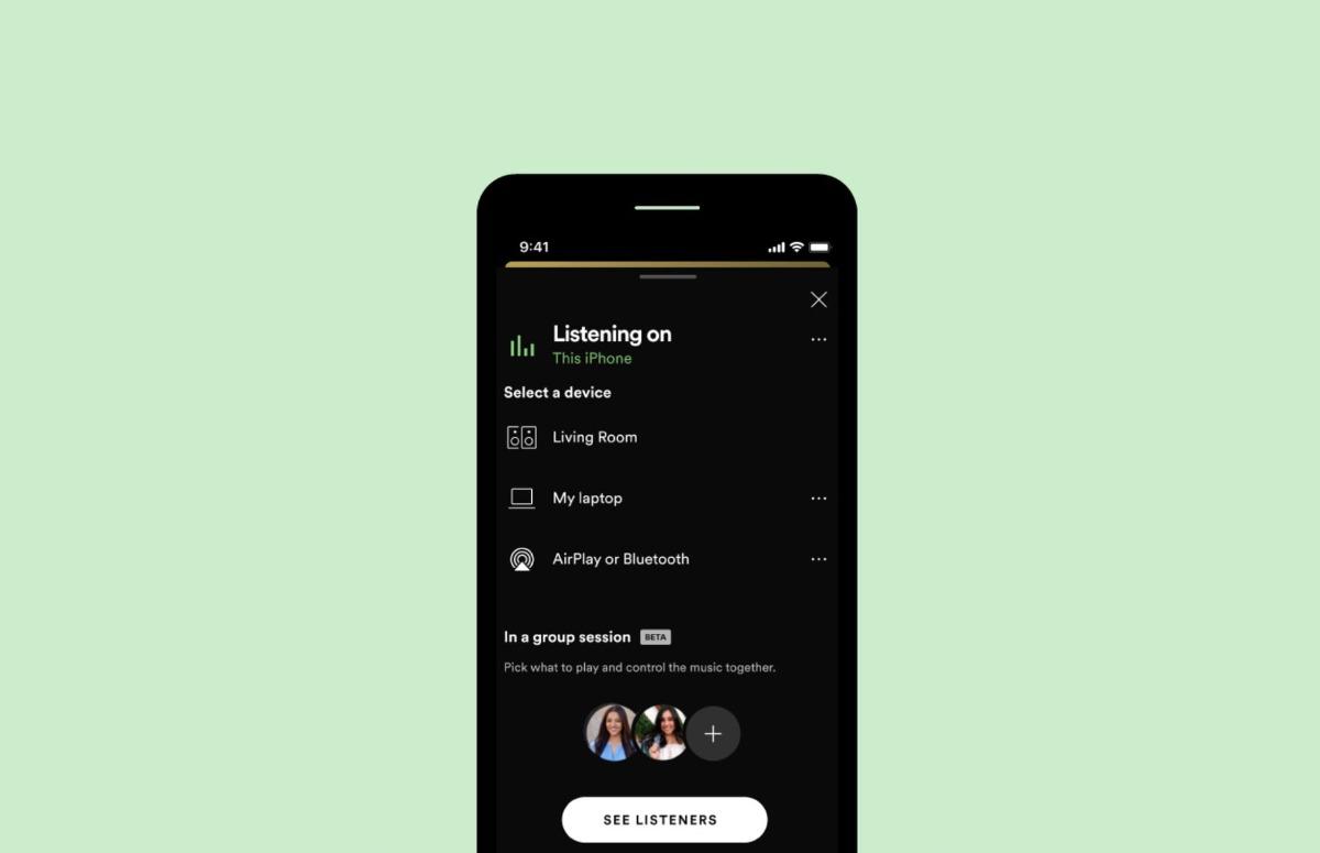 Spotify Groepssessie afstand