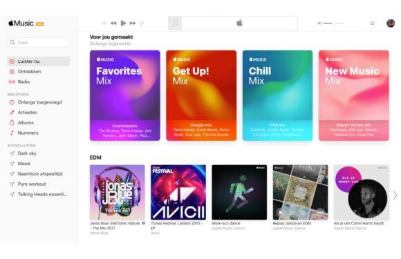 Apple Music web update