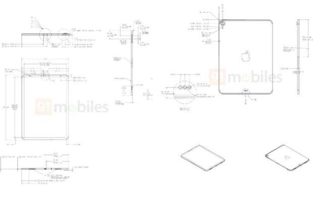 iPad Air 2020 schematische tekeningen