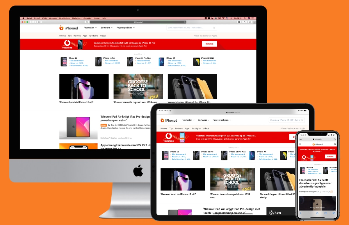 Welkom op het vernieuwde iPhoned! Je vertrouwde Apple-website in een nieuw jasje