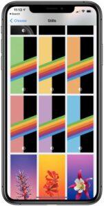 iOS 14 bèta 7 regenboog-wallpapers