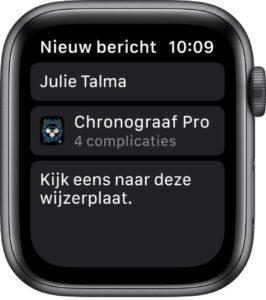Apple Watch wijzerplaat delen watchos 7