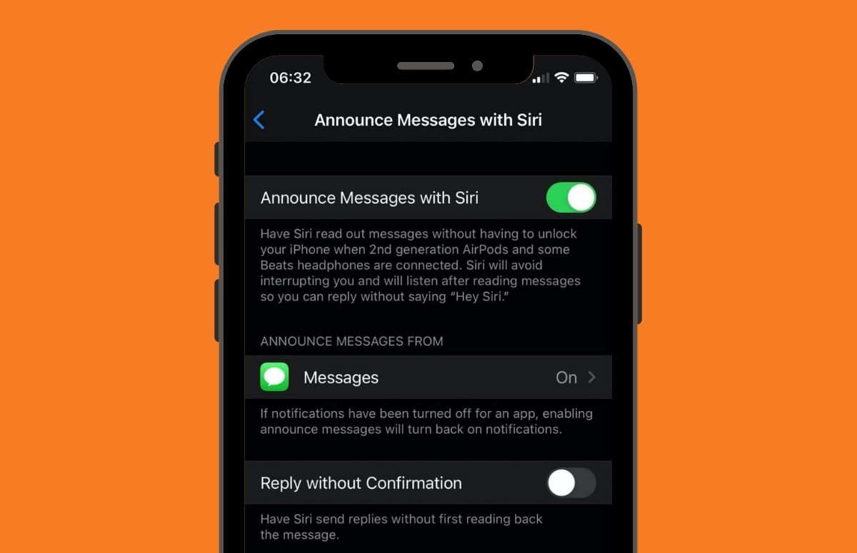 berichten aankondigen met siri