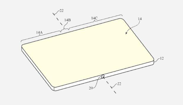 Opvouwbare iPhone met zelfhelend glas - patent