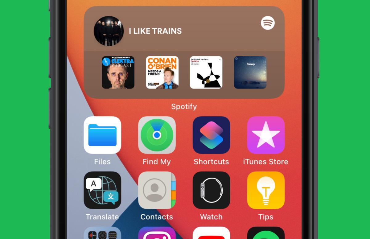 Tip: zo plaats je een widget van Spotify op je thuisscherm