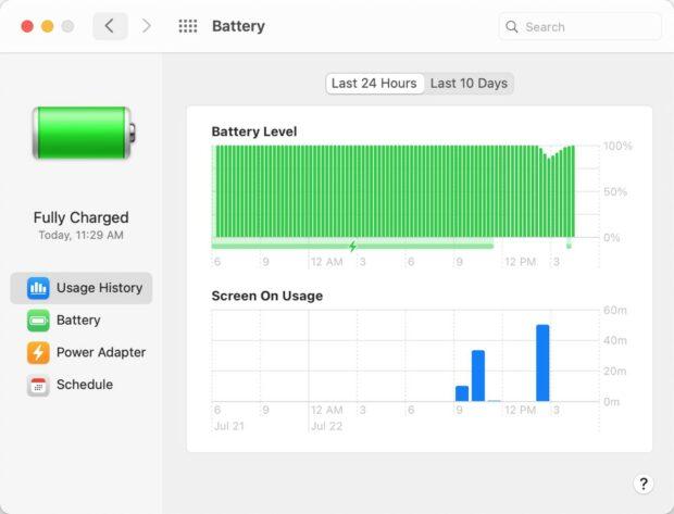 Batterijconditie-functie Big Sur