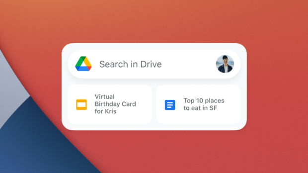 Google iOS-widgets Drive