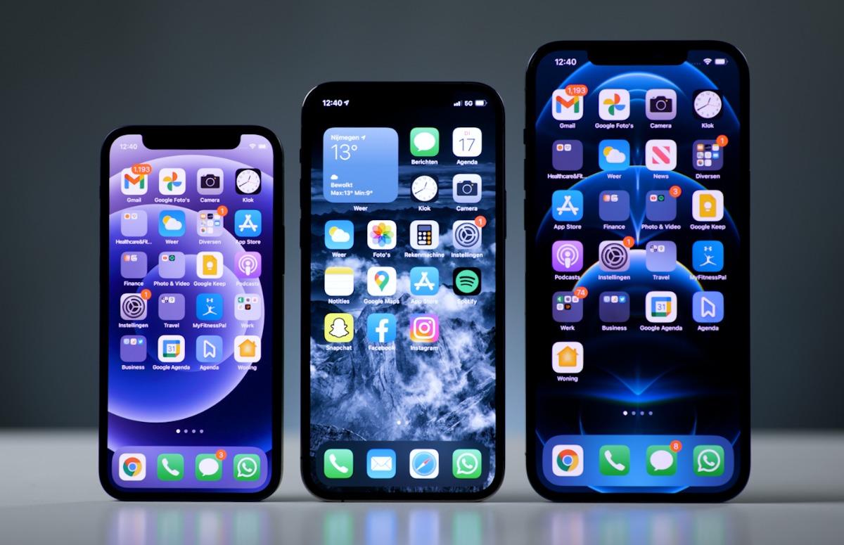 Overzicht: iPhone 12, mini, Pro en Pro Max levertijden en voorraad