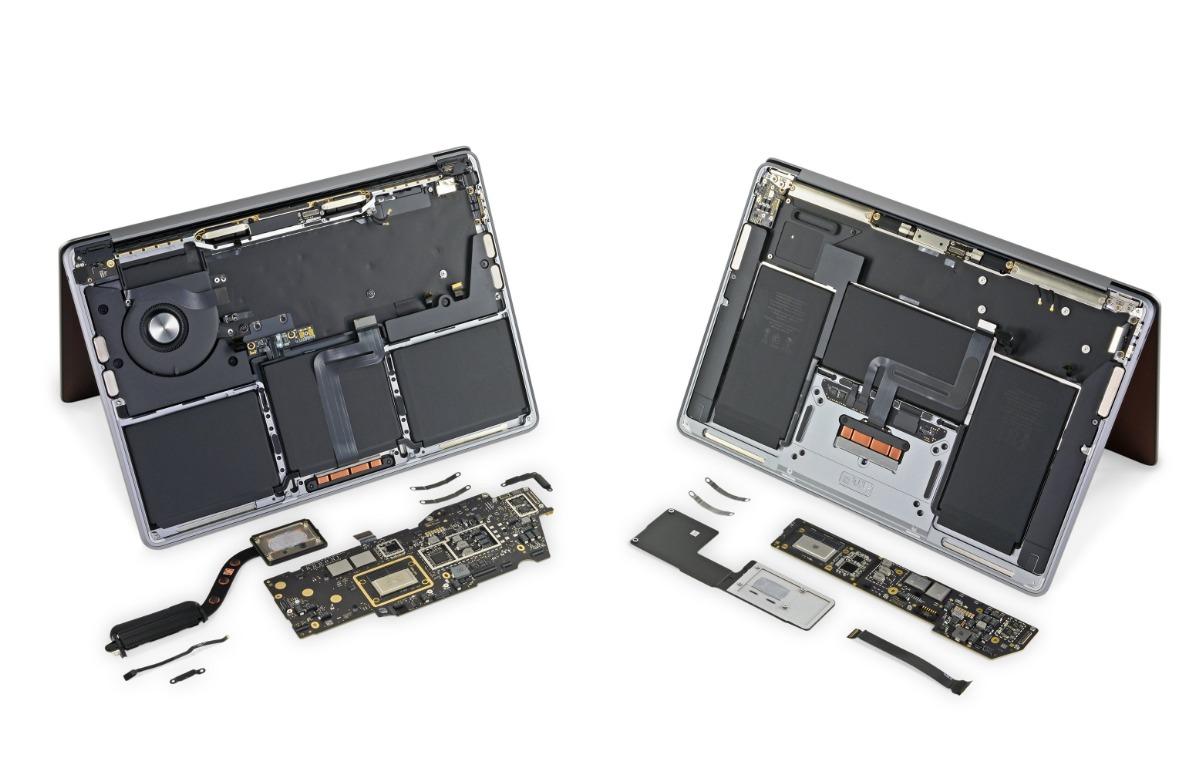 Teardown: MacBooks met M1-chip vrijwel identiek aan oudere Intel-modellen