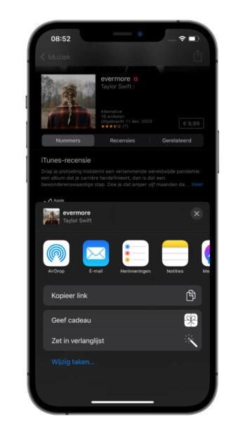 iPhone app cadeau