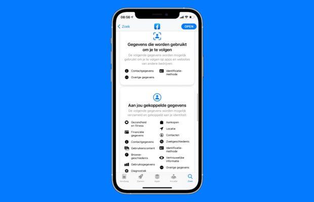 App Store verkeerd privacylabel