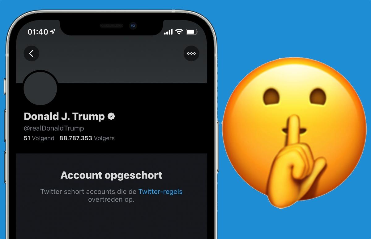 Opinie: Trump en Parler online verbannen heeft niks met censuur te maken