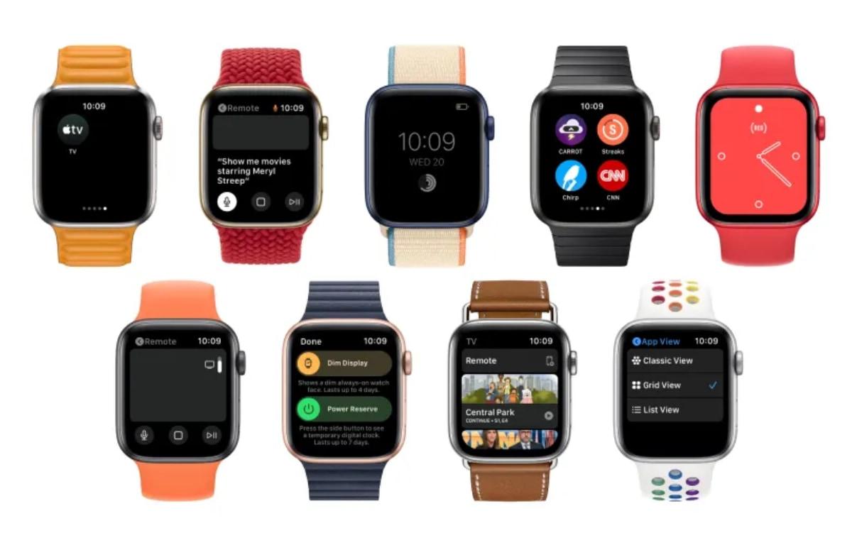 watchOS 8 concept: gedimd scherm, verbeterde Remote-app en meer