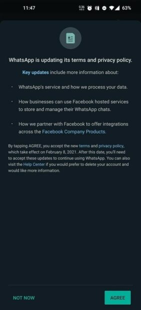 Facebook whatsapp data delen