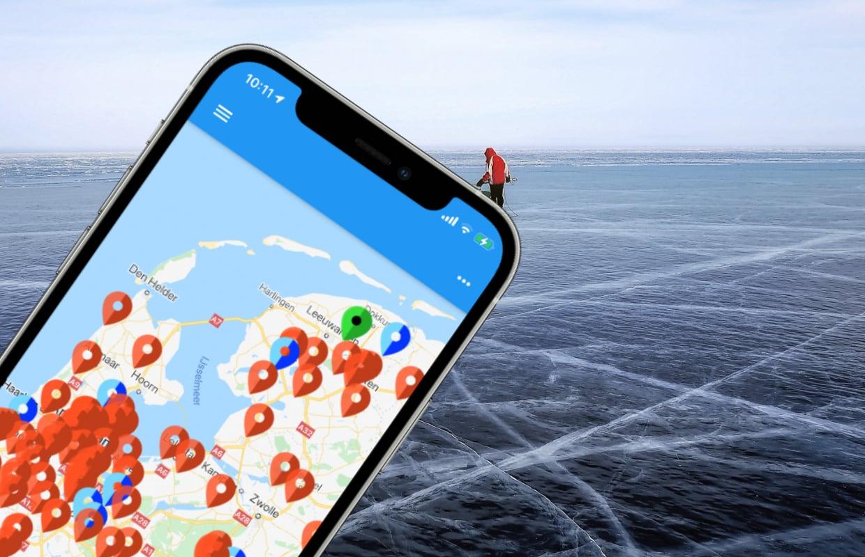 De IJsmeester-app toont waar je veilig op natuurijs kunt schaatsen