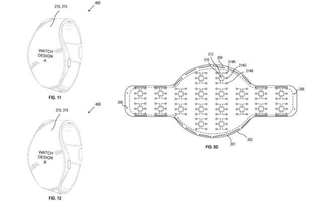 Apple Watch met rond scherm patent