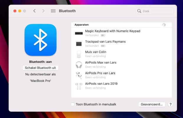 Bluetooth problemen Mac