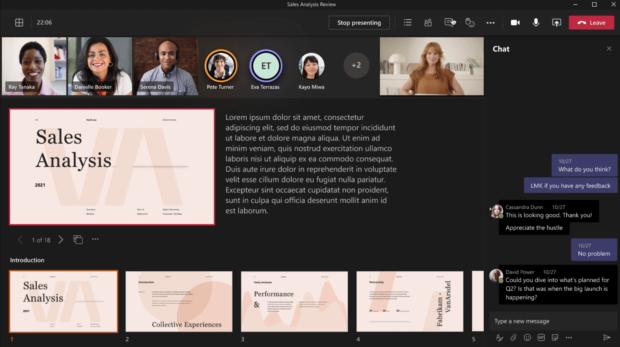 PowerPoint Live Microsoft Teams