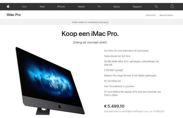 iMac Pro uit assortiment
