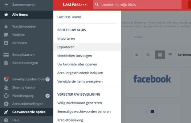 LastPass overzetten