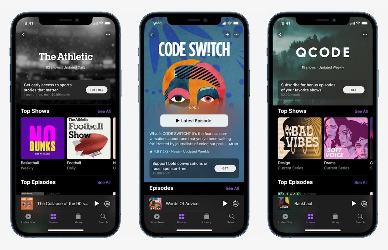 Apple onthult betaalde dienst met exclusieve podcasts