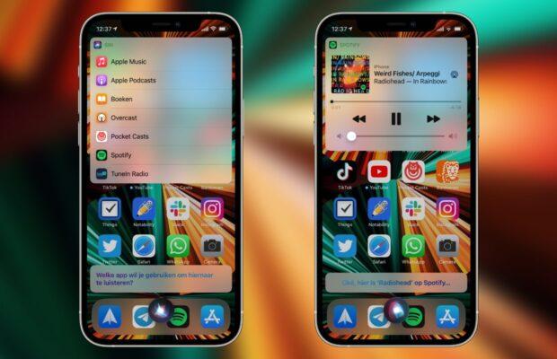 Siri standaard muziek-app