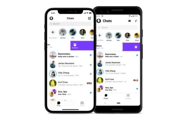 Facebook messenger chats archiveren