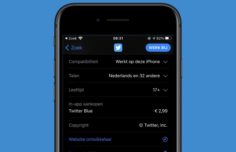 twitter blue app store