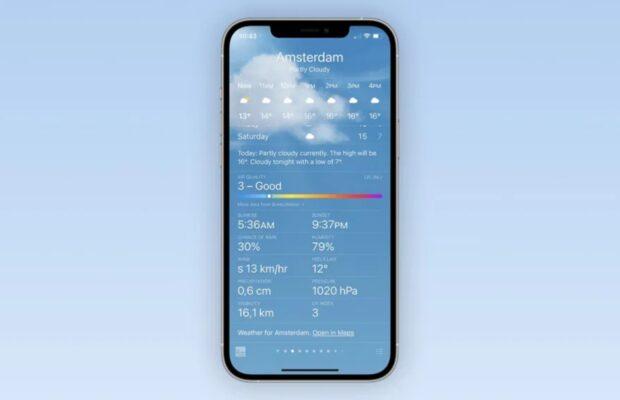 iOS 14.7 functies luchtkwaliteit