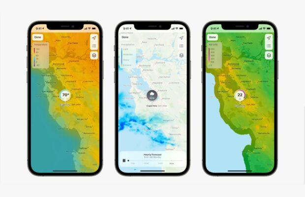 Weer-app in iOS 15