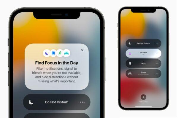 iOS 15 niet storen modus focus