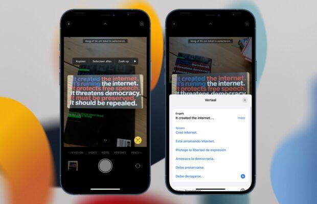 iOS 15 preview livetekst
