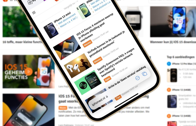 iOS 15 bèta 6 maakt de grootste Safari-verandering ongedaan