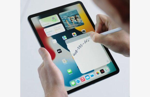 iPadOS 15 snelle notities