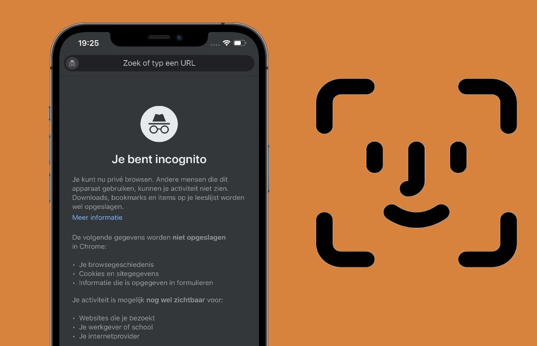 Zo beveilig je incognito-tabbladen in Google Chrome met Face ID