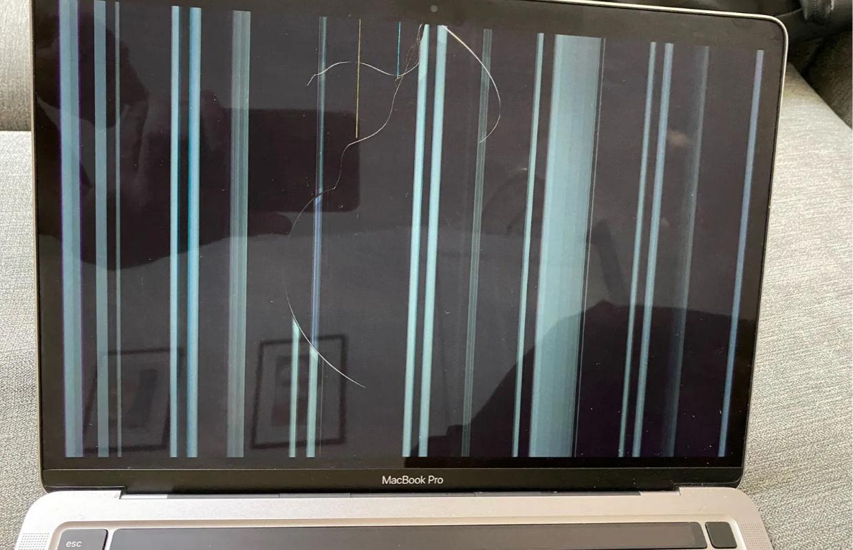 Gebruikers MacBook met M1-chip klagen over barsten in het scherm
