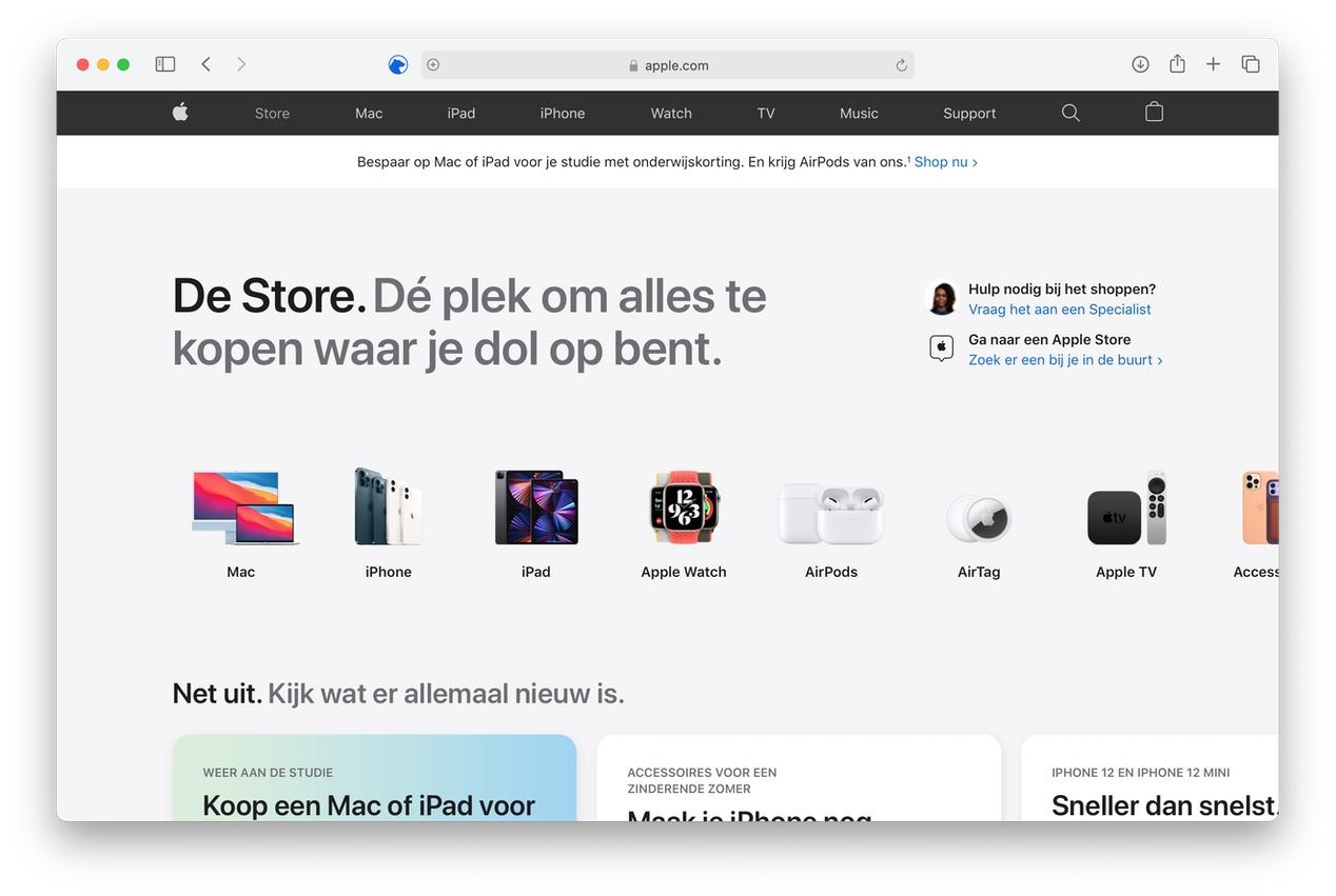 Online Apple Store heeft een compleet nieuw design