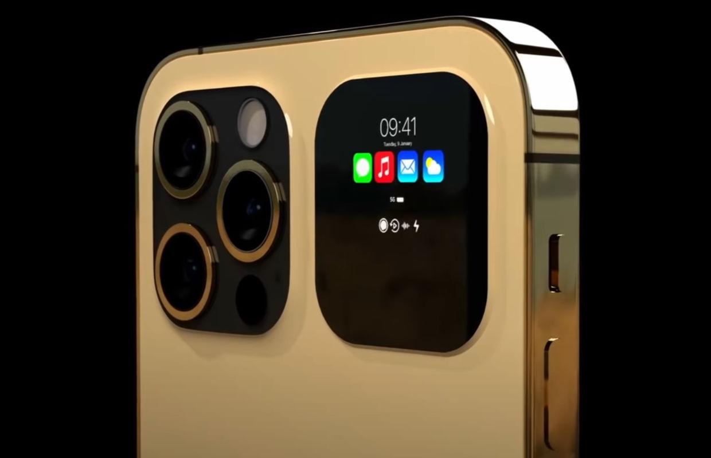 Futuristisch iPhone 13 Pro concept laat schermpje op achterkant zien