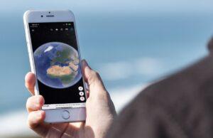 iPhone satelliet aarde