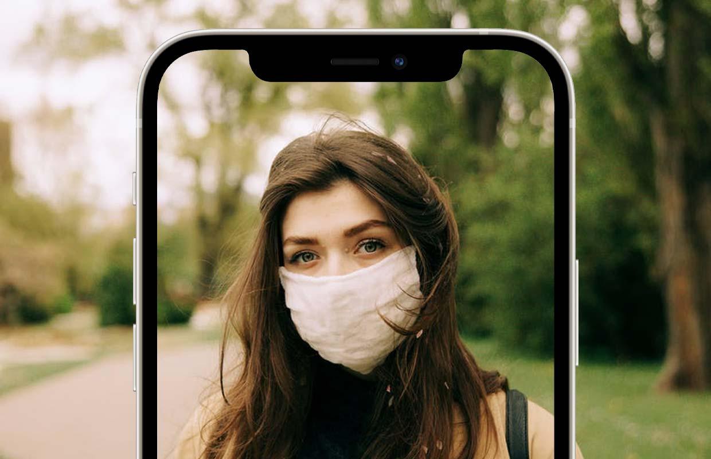 'Apple test nieuwe versie van Face ID die gewoon werkt als je een mondkapje draagt'
