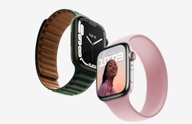 Apple Watch Series 7 roze band