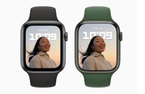 Tampilan Apple Watch Series SE dan 7.