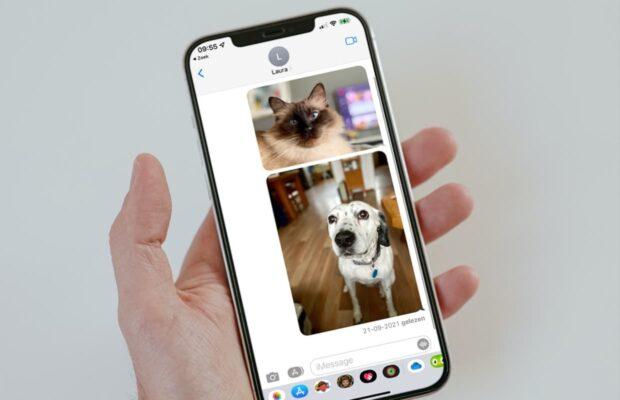 Foto's in Berichten iOS 15 kwijt