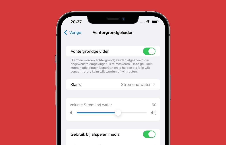 iOS 15: Zo zet je rustgevende achtergrondgeluiden aan
